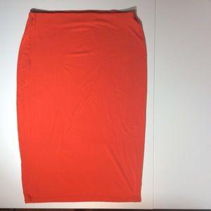 Old Navy Orange Stretch Pencil Skirt Size L
